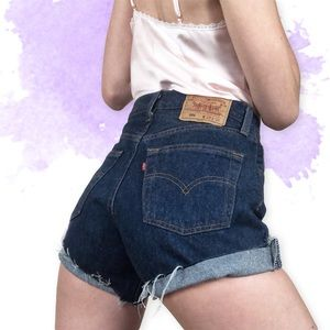 Levi's Shorts - 🌸Vtg 501 Dark Wash Levis Cutoff Shorts 26🌸
